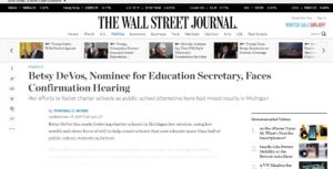 Betsy DeVos Nominee for Education Secretary Faces Confirmation Hearing WSJ