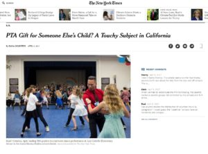 PTA Gift for Someone Else's Child A Touchy Subject in California The New York Times