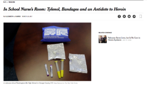 In School Nurse's Room Tylenol Bandages and an Antidote to Heroin The New York Times