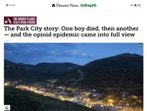 The Park City story One boy died then another — and the opioid epidemic came into full view Deseret News