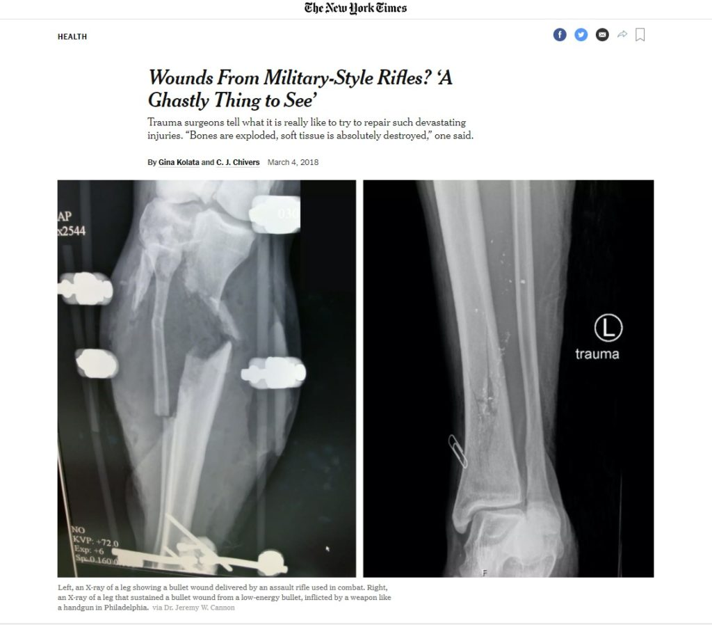 Wounds From Military Style Rifles 'A Ghastly Thing to See' The New York Times