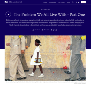 """In """"The Problem We All Live With,"""" Nikole Hannah-Jones follows two school districts in Missouri that in 2013 experienced an accidental desegregation program."""