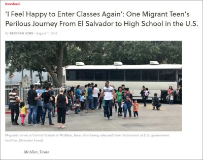from el salvador to a us high school