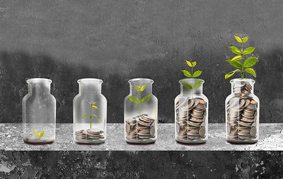 Saving money concept