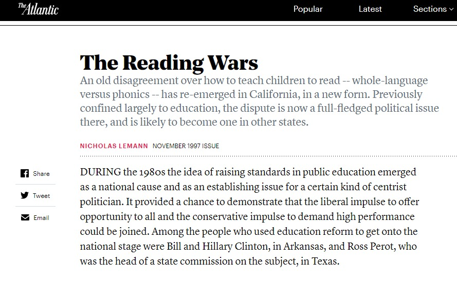 The Reading Wars The Atlantic