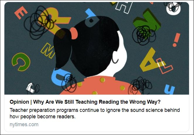Why Are We Still Teaching Reading Wrong >> Hard Reporting Why Reading Went Under The Radar For So Long And