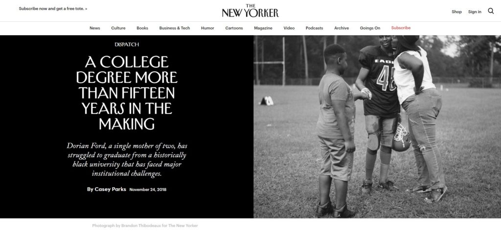 A College Degree from an H B C U More than Fifteen Years in the Making The New Yorker