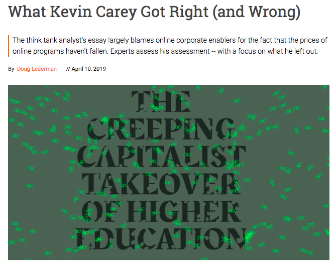 Expert roundup What Kevin Carey got right and wrong about OPMs and online pricing