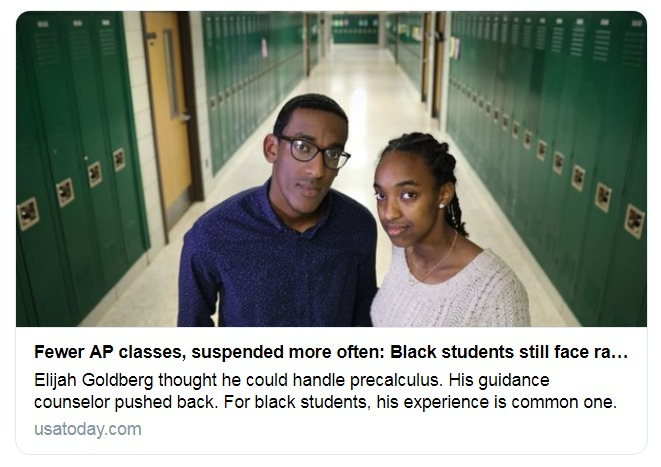 Fewer AP classes more suspensions Being black in suburban schools Twitter Search