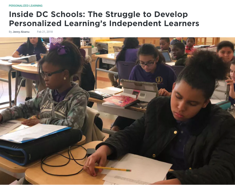Inside DC Schools The Struggle to Develop Personalized Learning's Independent Learners EdSurge News