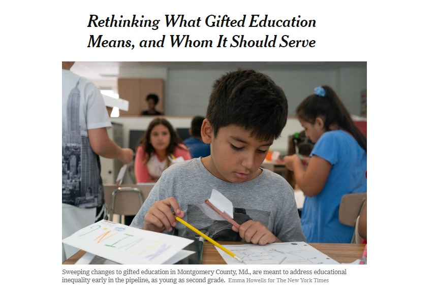 Rethinking What Gifted Education Means and Whom It Should Serve The New York Times