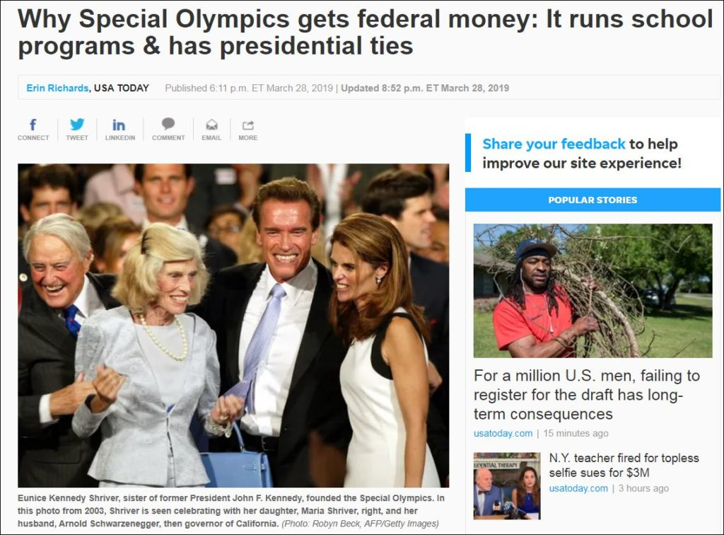 Devos Scraps More Out Of Date Federal >> Betsy Devos Special Olympics Funding The Challenges Of Covering